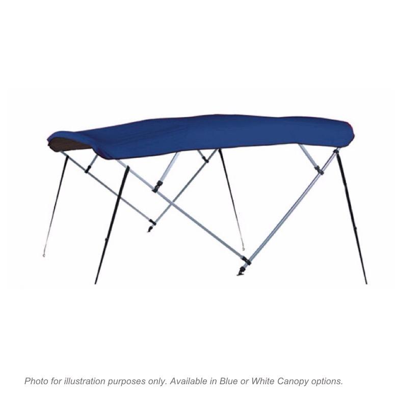 Boat Bimini Top Canopy - 4 Bow Blue. Width 230cm - 250cm - MiD Marine