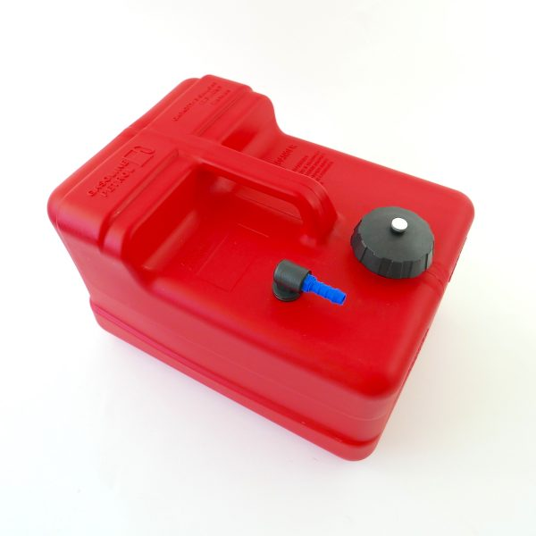 3 Gallon outboard fuel tank with connector