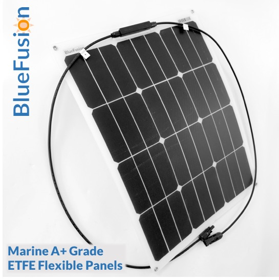 Bluefusion Mono Solar Panels 10w 100w For Grid Tie