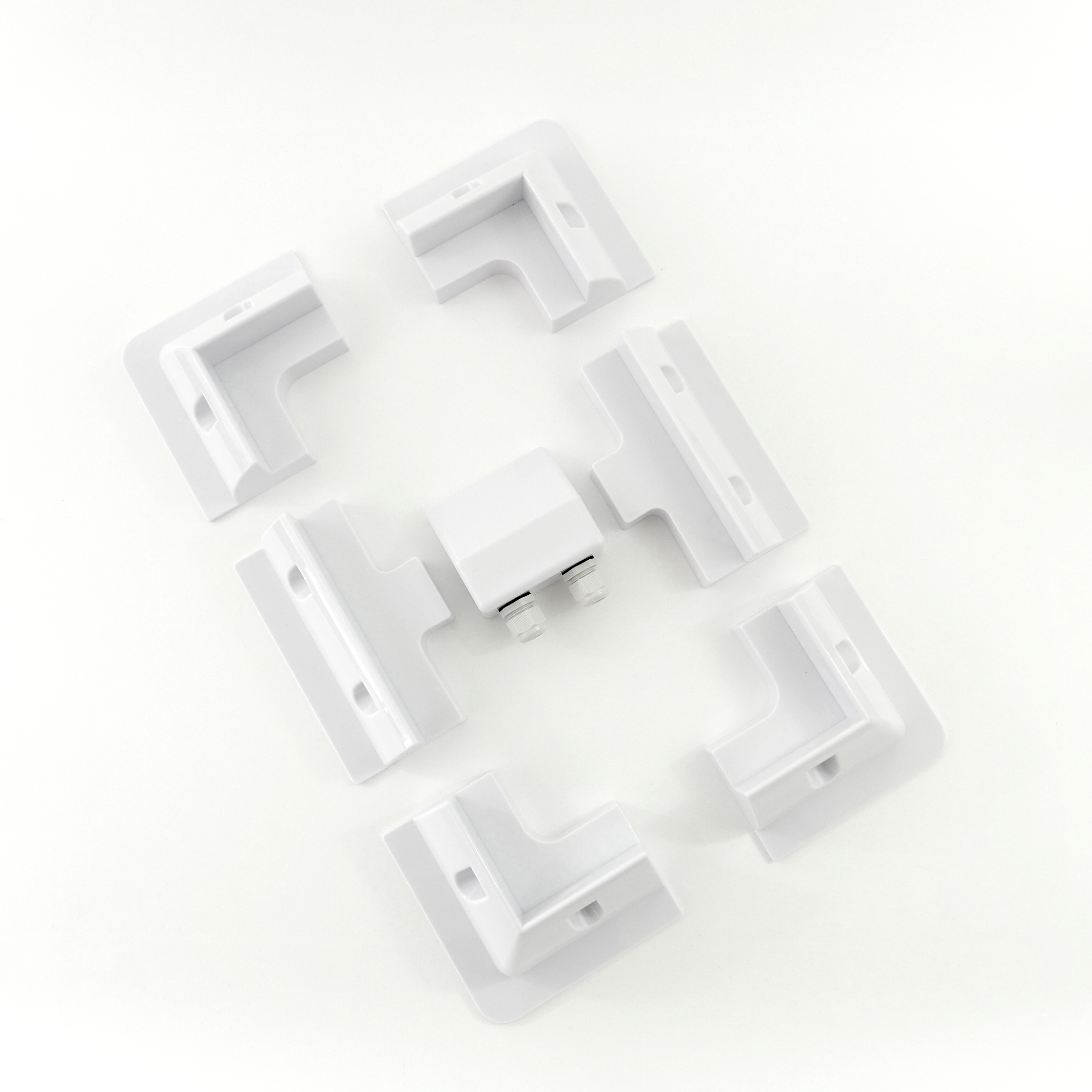 Solar Panel Brackets, Set of 6, with Cable Gland