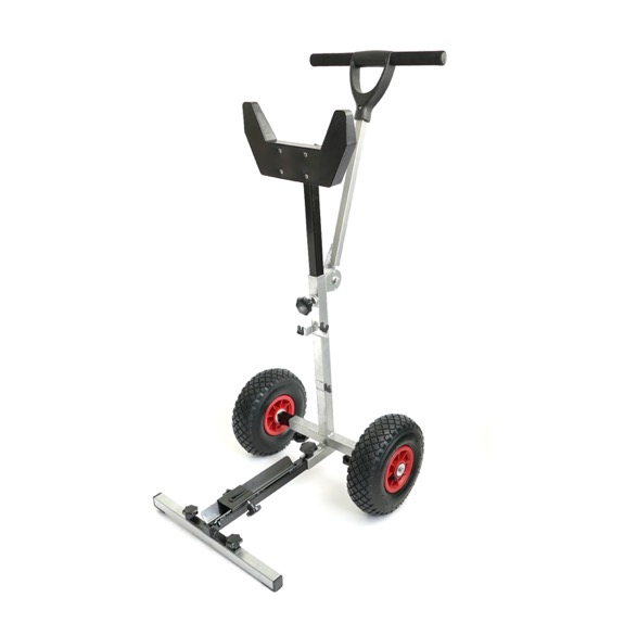 Portable Folding Outboard Trolley - Assembled View