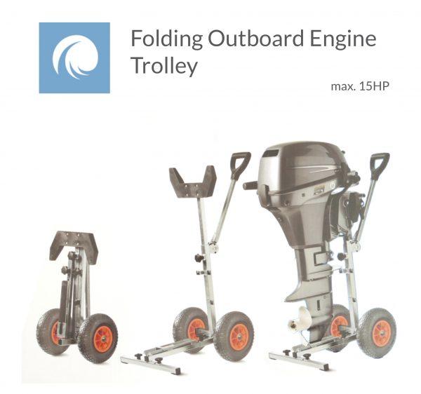 Folding Outboard Trolley 15HP