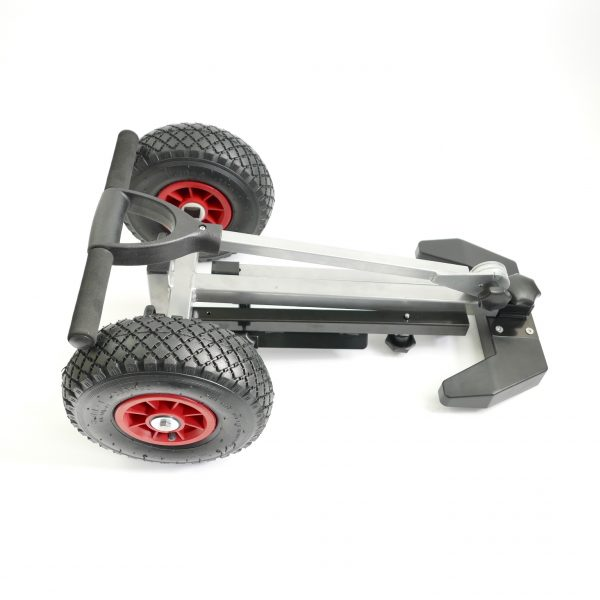 Portable Folding Outboard Trolley - Folded View
