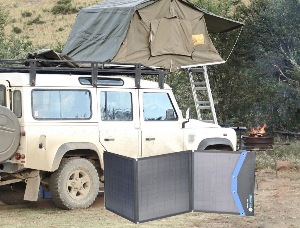 Portable solar panels to Charge Batteries while Hiking, Camping, Fishing