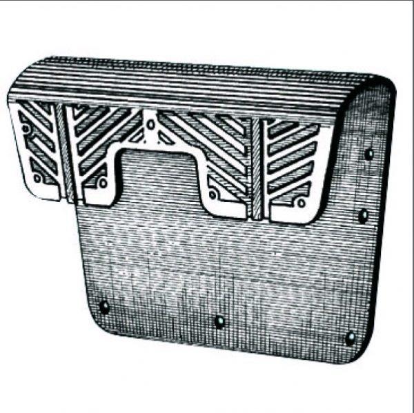 Transom Pad installation illustration
